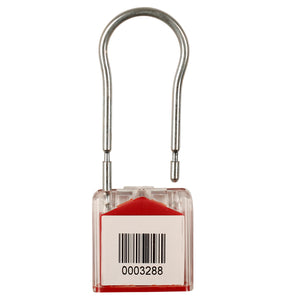 Key Seal Red - Stock Numbered / Solid Hasp Version (10 Pack)