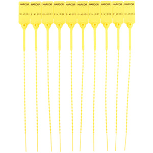 Plastic Pulltight V2 - Yellow / Numbered (1000 Unit Carton)