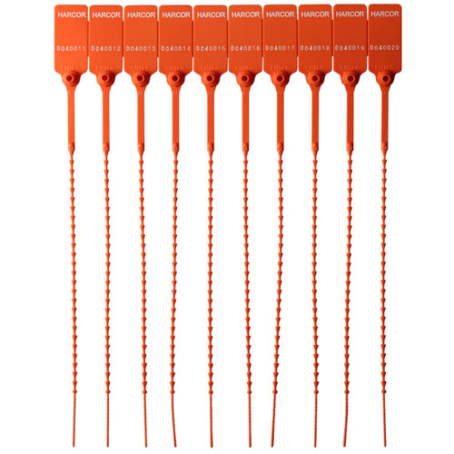 Plastic Pulltight V2 - Orange / Numbered (1000 Unit Carton)