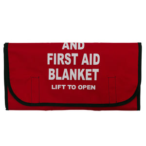 Fire and First Aid Blanket - Red