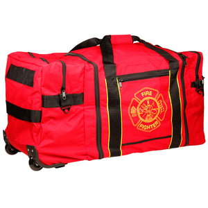 Fire Fighter Gear Bag with Wheels - Red