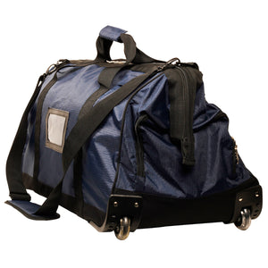 Large Fire Fighter Kit Bag with Wheels - Blue