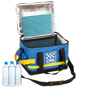 CFA (Country Fire Authority) Bottled water cooler bag & two ice bricks