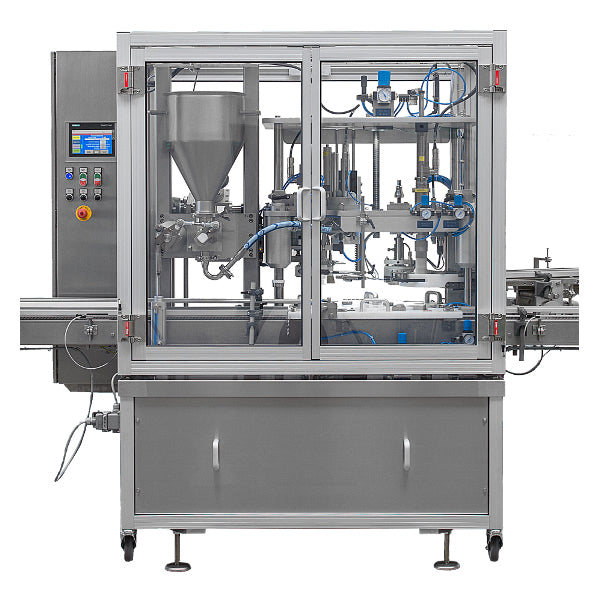 Automatic fill, foil and sealing system