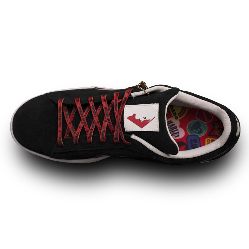 Multi PUMA x THE SUICIDE SQUAD Women's Suede Sneakers - HARLEY QUINN Image