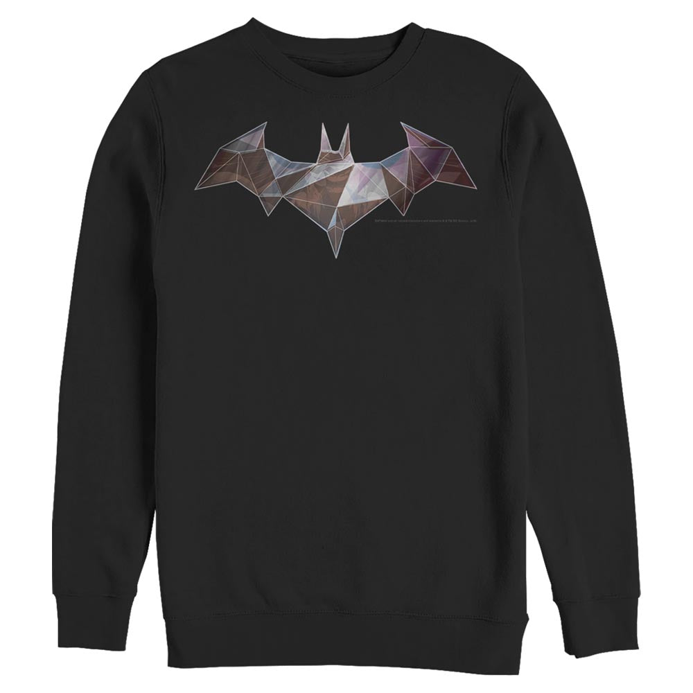 BATMAN Geometric Bat-Symbol Crew Sweatshirt