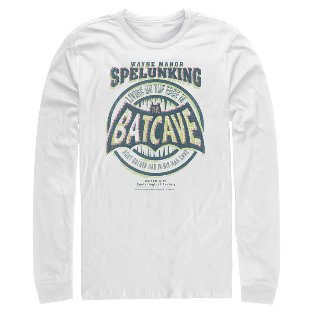 White DC FATHER'S DAY Batman Dad Cave Long Sleeve Tee Image