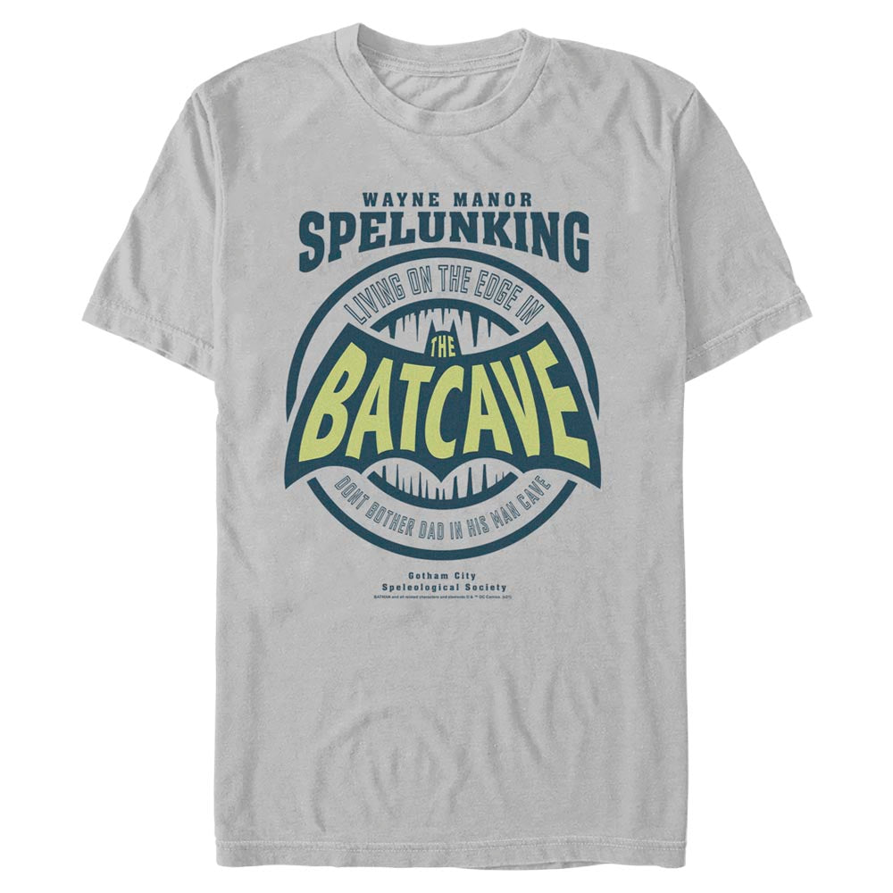 Silver Grey DC FATHER'S DAY Batman Dad Cave T-Shirt Image