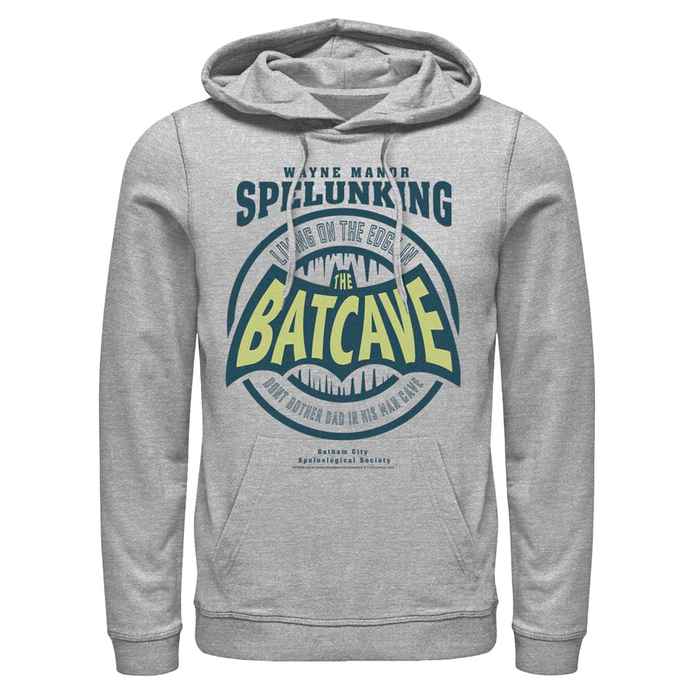 Grey Heather DC FATHER'S DAY Batman Dad Cave Hoodie Image