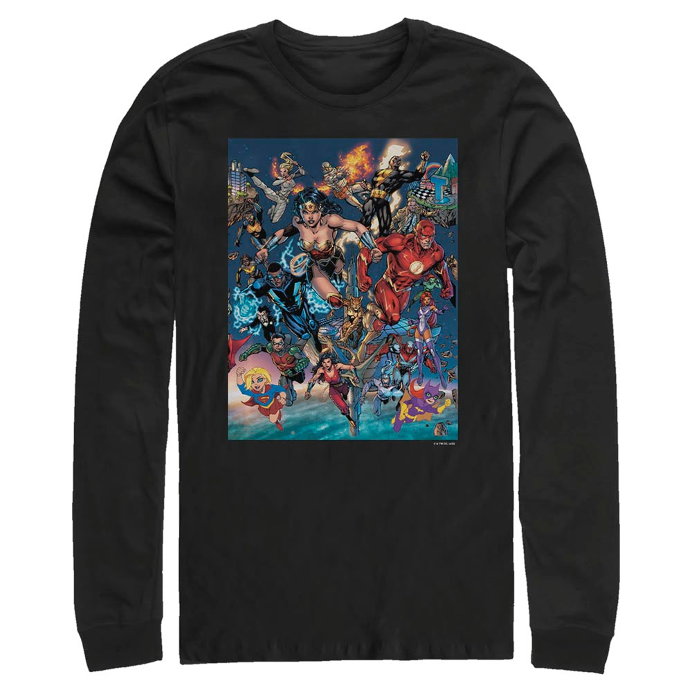DC Universe Triptych Long Sleeve Tee featuring art by Jim Lee, Middle Panel