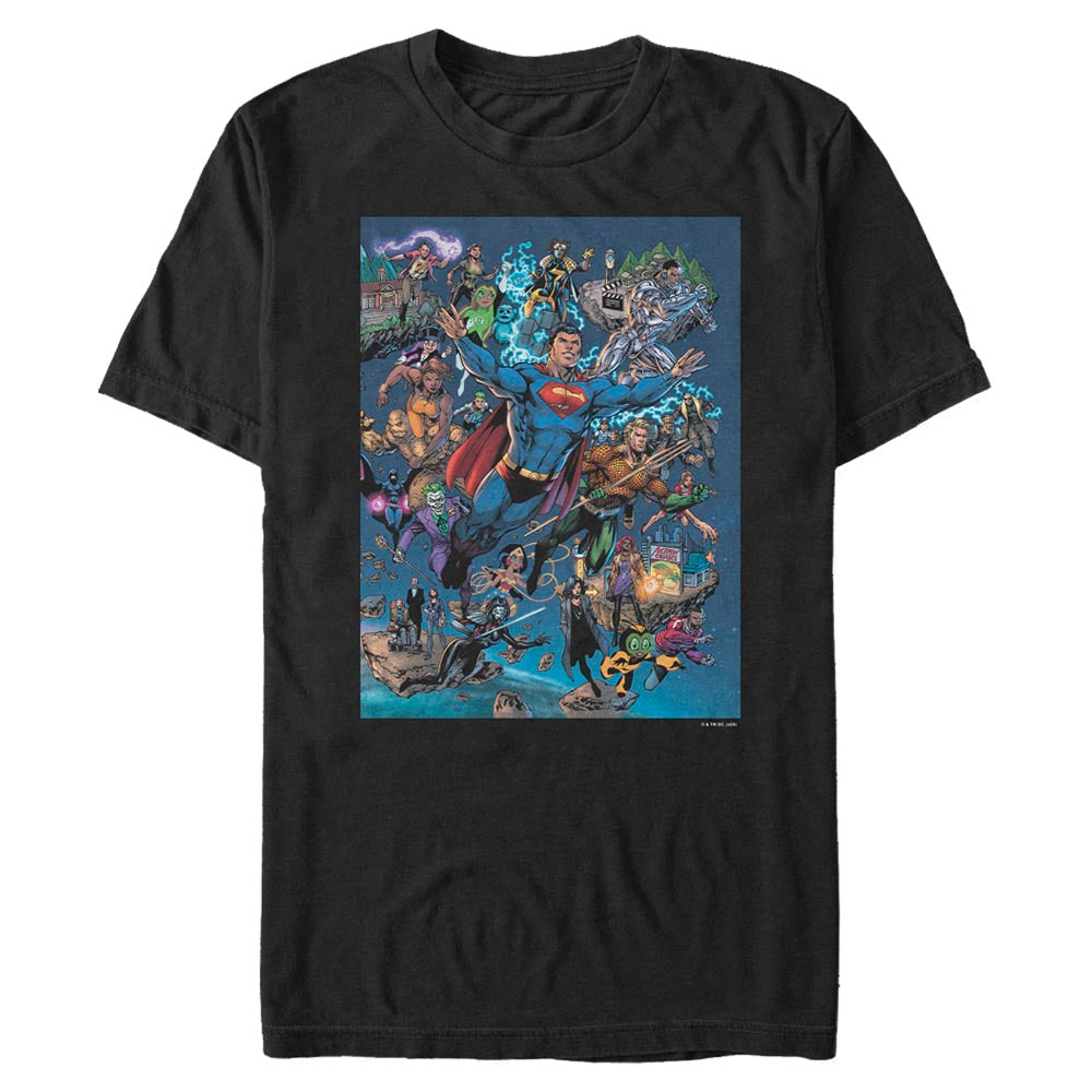 DC Universe Triptych T-Shirt featuring art by Jim Lee, Right Panel
