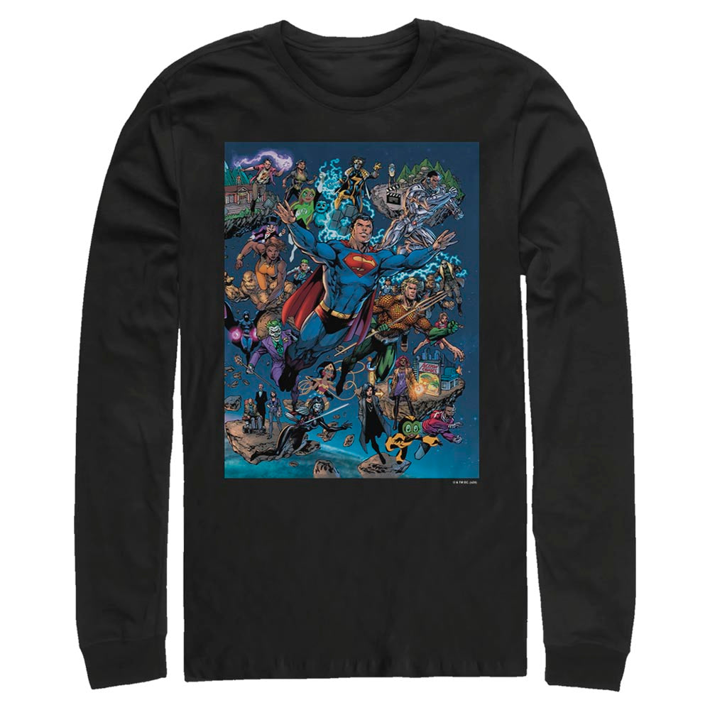DC Universe Triptych Long Sleeve Tee featuring art by Jim Lee, Right Panel