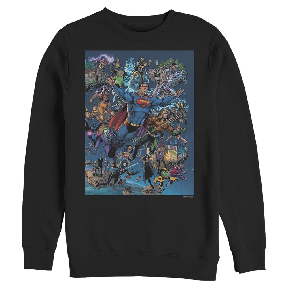 DC Universe Triptych Crew Sweatshirt featuring art by Jim Lee, Right Panel
