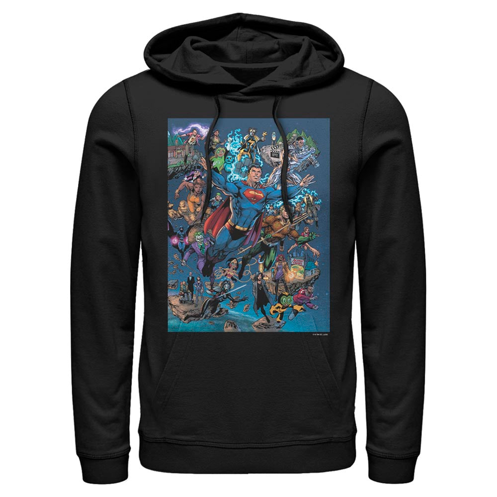 DC Universe Triptych Hoodie featuring art by Jim Lee, Right Panel
