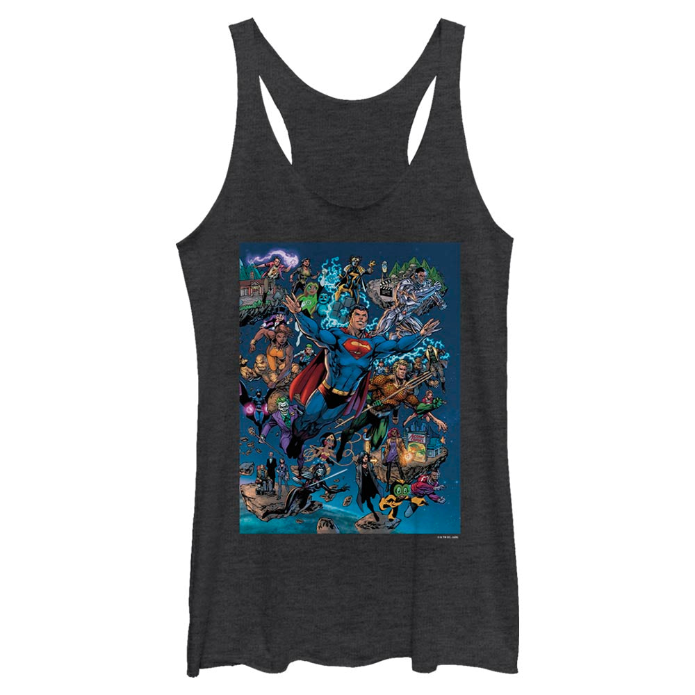 DC Universe Triptych Women's Racerback Tank featuring art by Jim Lee, Right Panel