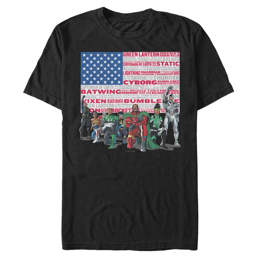 DC HEROES T-shirt featuring art by Denys Cowan