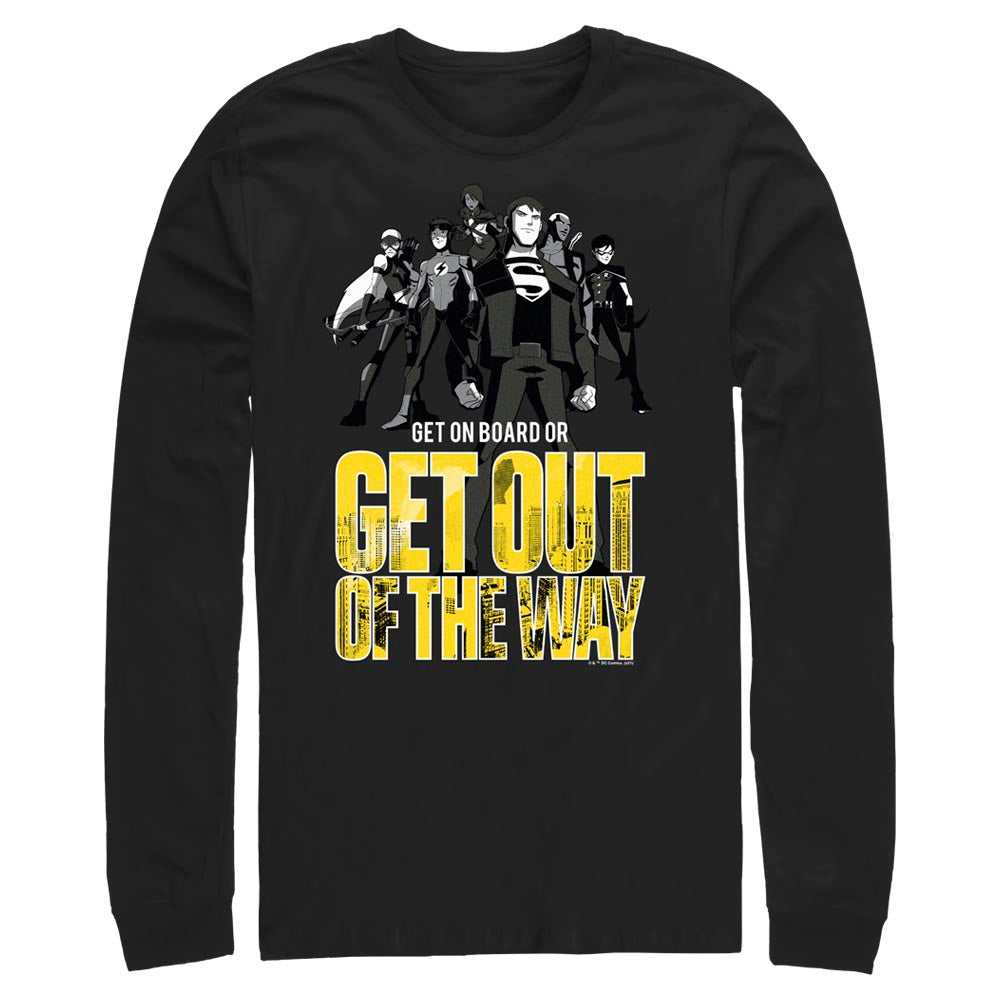 YOUNG JUSTICE Get Out Of The Way Long Sleeve Tee