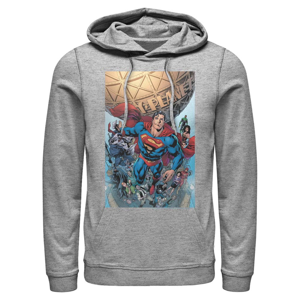 Grey Heather SUPERMAN Daily Planet Hoodie Image