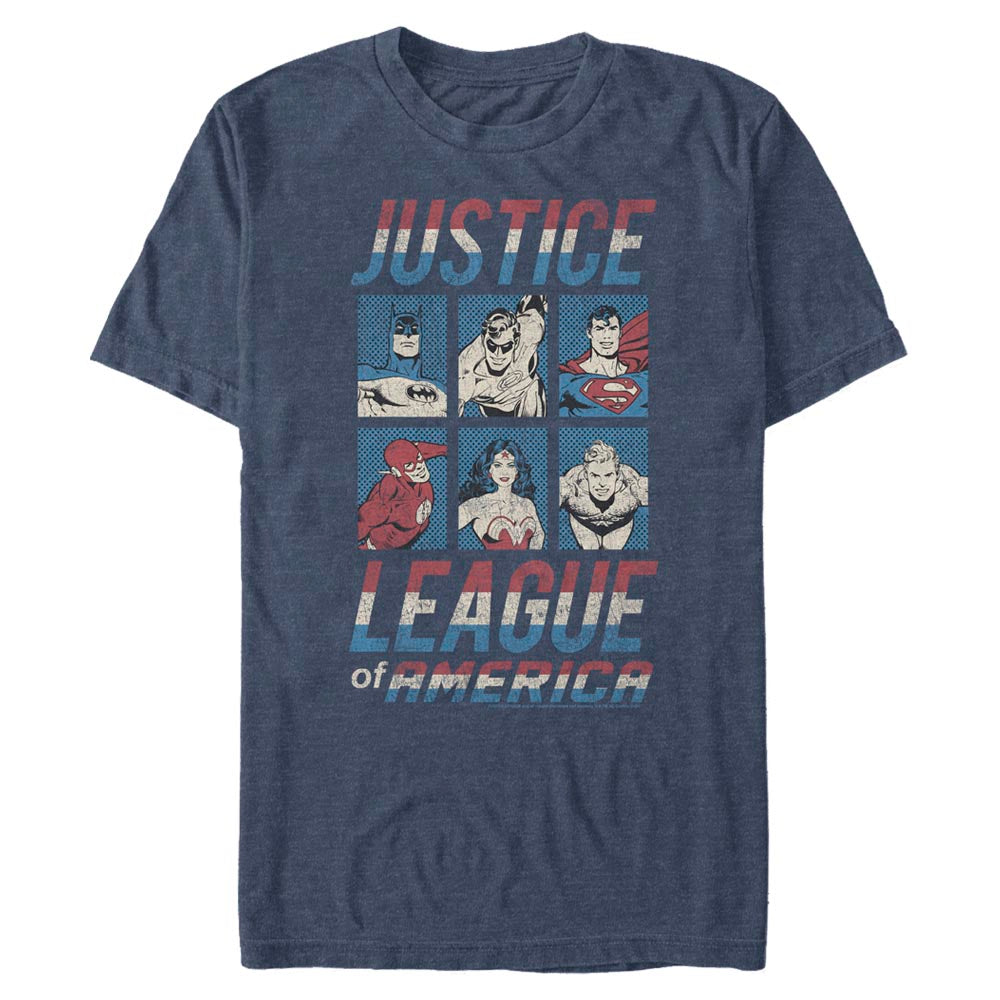 JUSTICE LEAGUE OF AMERICA Character T-Shirt