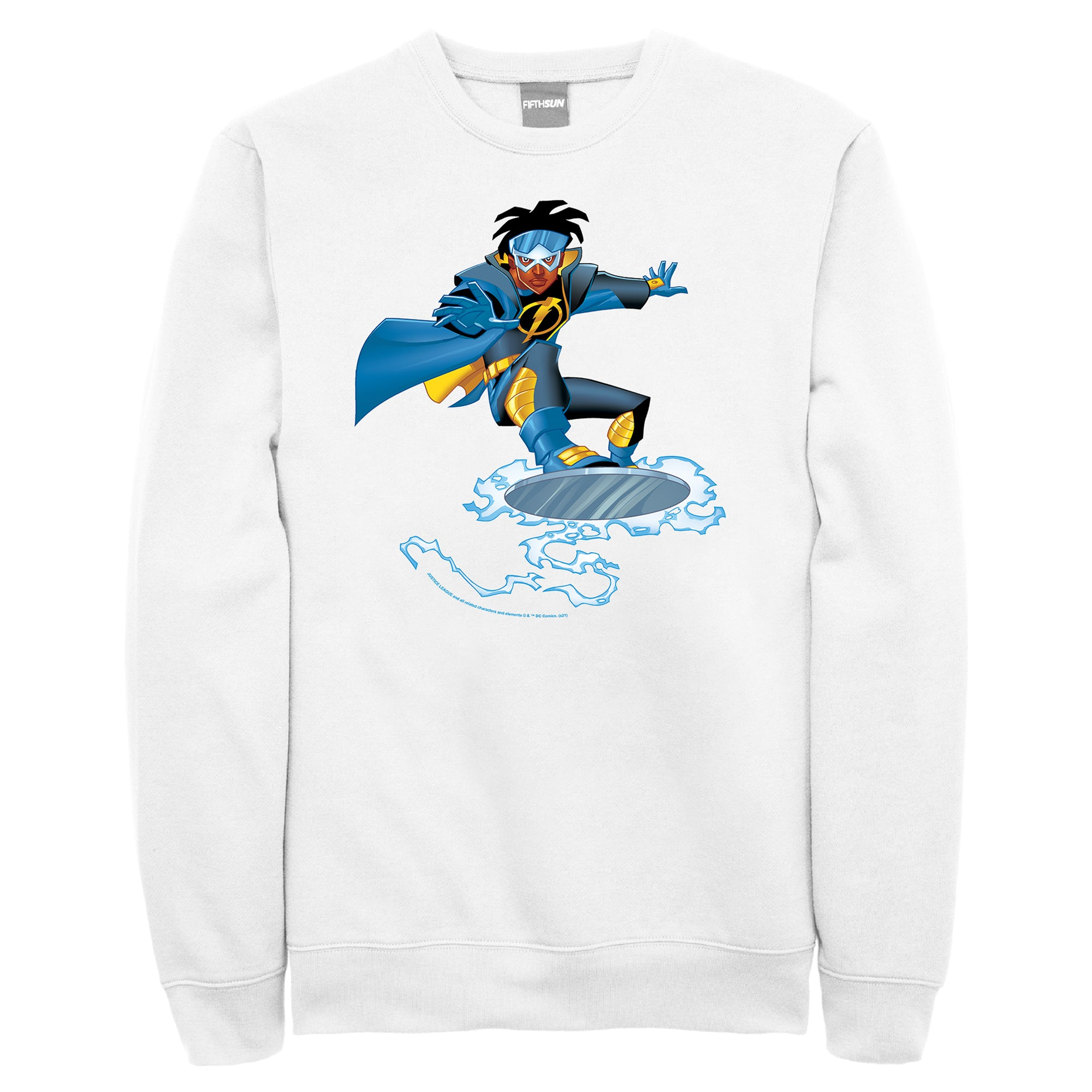 STATIC SHOCK Retro Animated Crew Sweatshirt