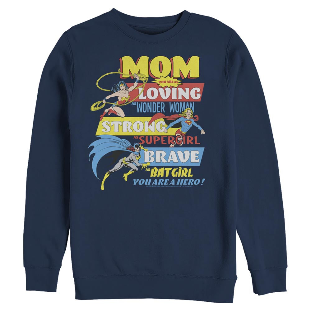 Navy DC MOTHER'S DAY You Are A Hero Crew Sweatshirt Image