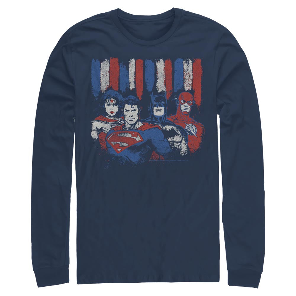 DC AMERICANA Red, White and Blue Long Sleeve Tee