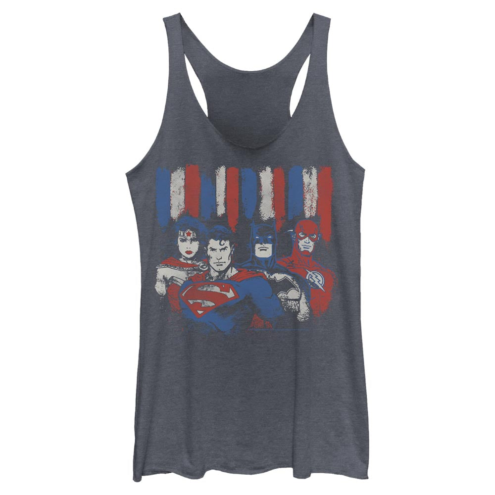 DC AMERICANA Red, White and Blue Women's Racerback Tank