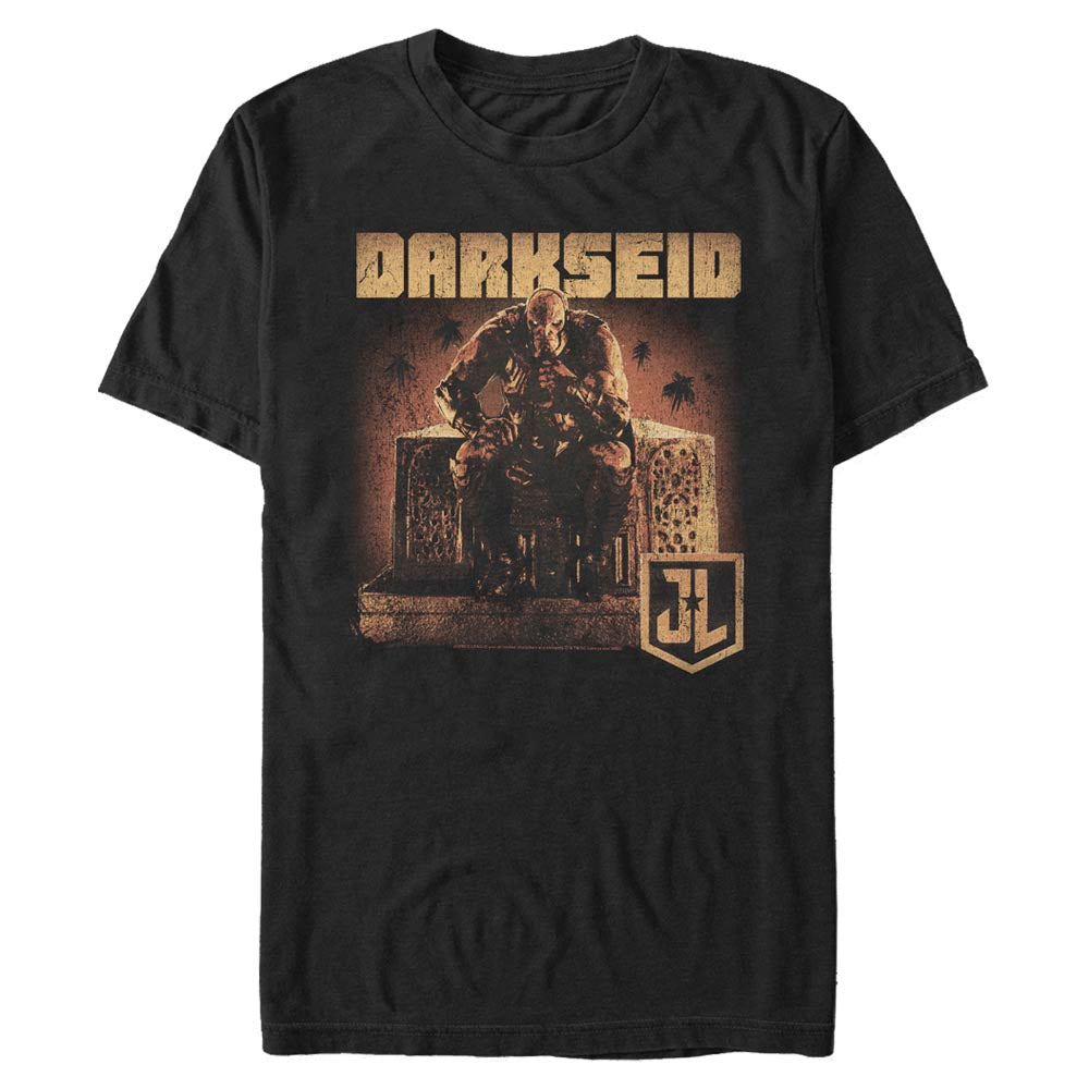 ZACK SNYDER'S JUSTICE LEAGUE Darkseid on Throne T-Shirt Black Image