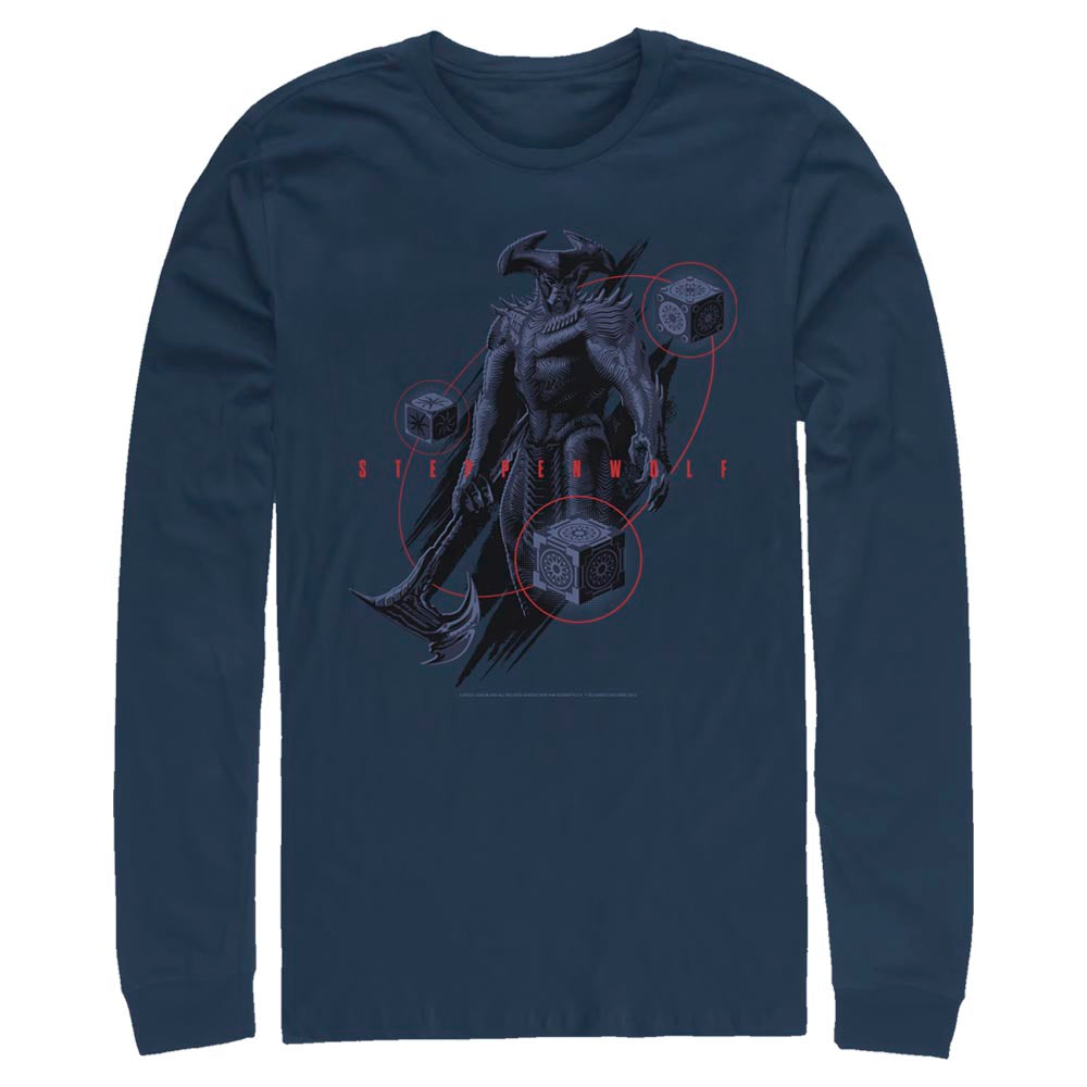 Navy JUSTICE LEAGUE Steppenwolf Long Sleeve Tee Image