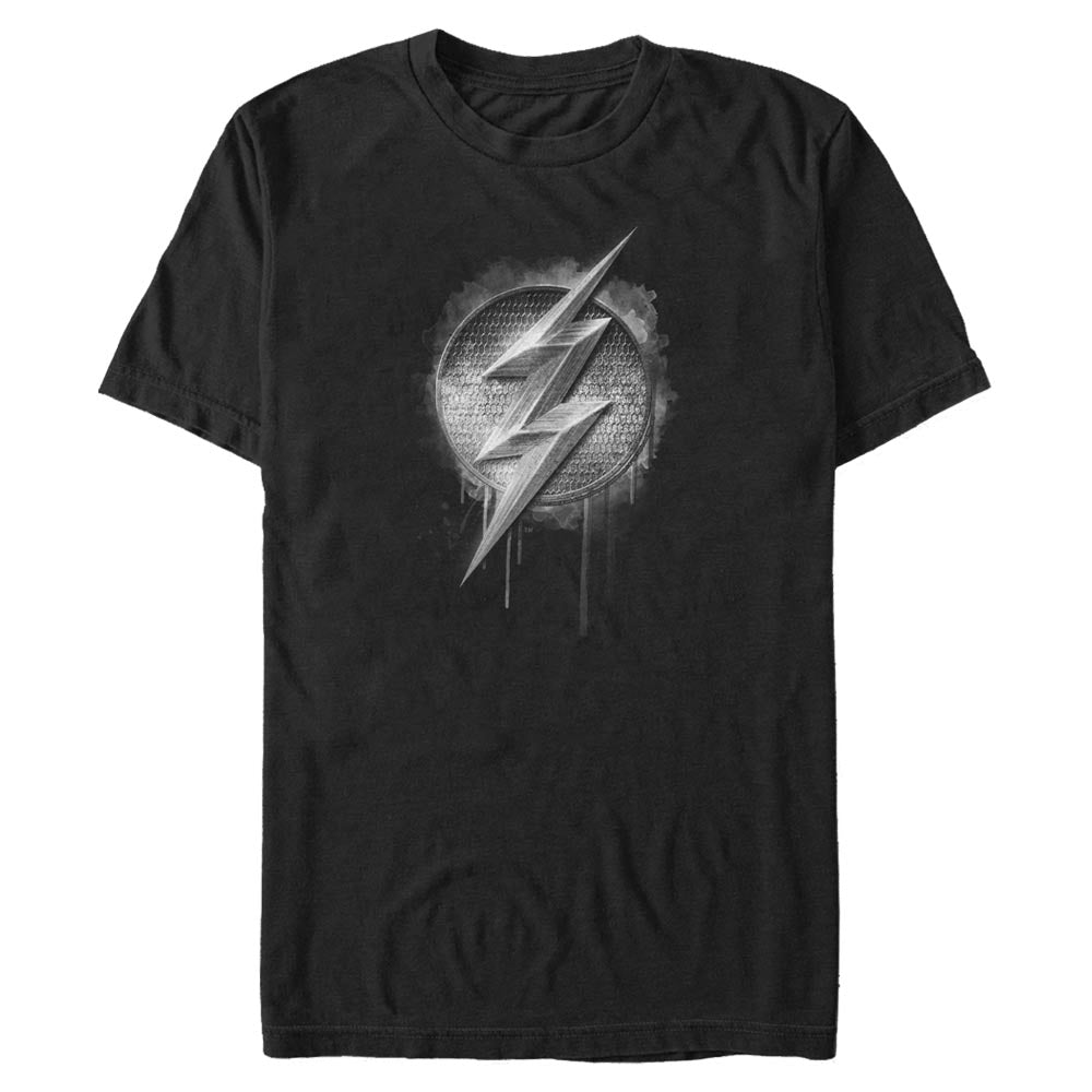 JUSTICE LEAGUE The Flash Silver Logo T-Shirt