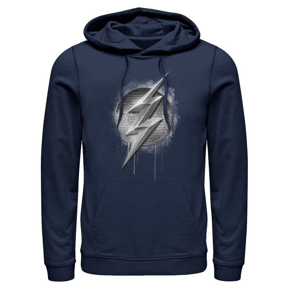 JUSTICE LEAGUE The Flash Silver Logo Hoodie