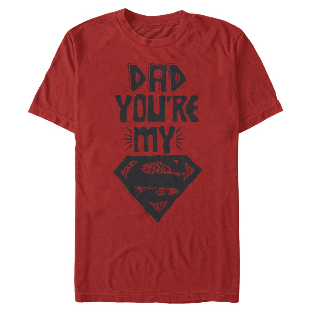 Red DC FATHER'S DAY Dad You're My Superman T-Shirt Image