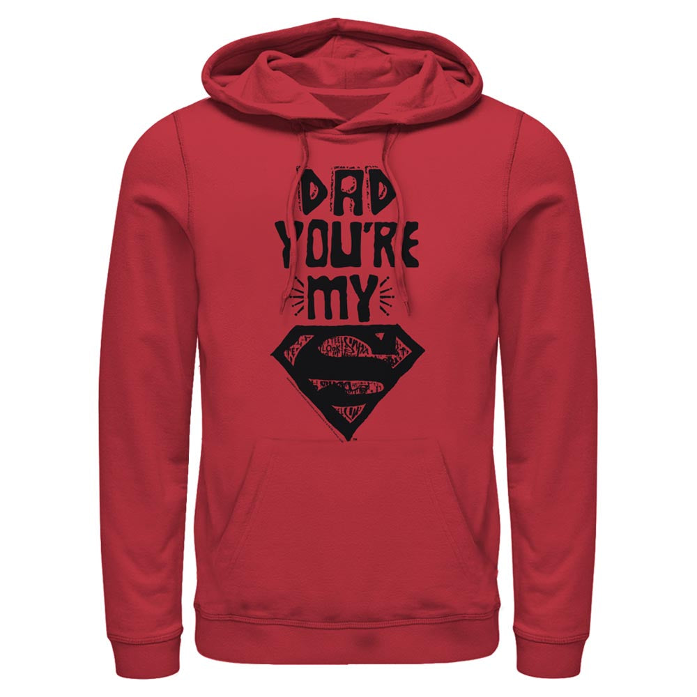 Red DC FATHER'S DAY Dad You're My Superman Hoodie Image