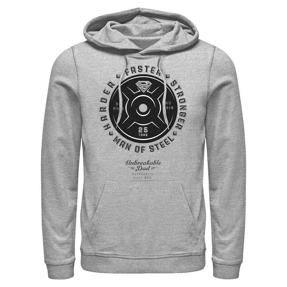 Grey Heather DC FATHER'S DAY Superman Unbreakable Dad Hoodie Image