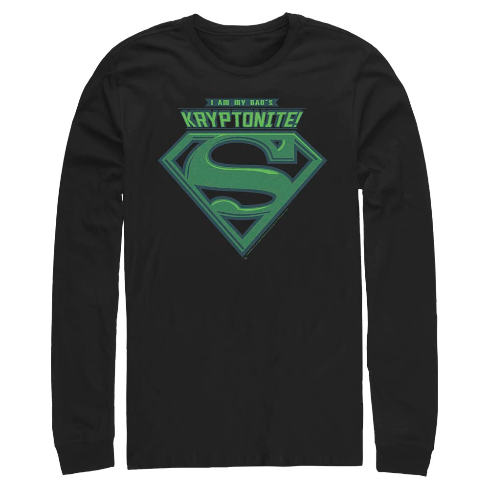 Black DC FATHER'S DAY Kryptonite Long Sleeve Tee Image