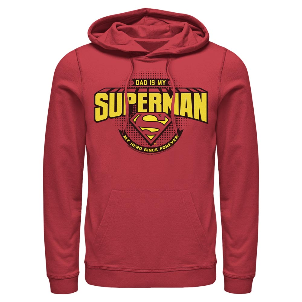 Red DC FATHER'S DAY Dad Is My Superman Hoodie Image