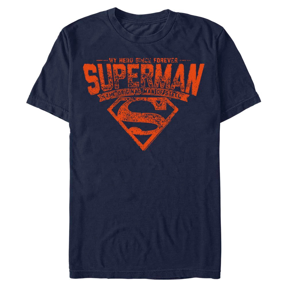 Navy DC FATHER'S DAY Superman Forever Hero T-Shirt Image