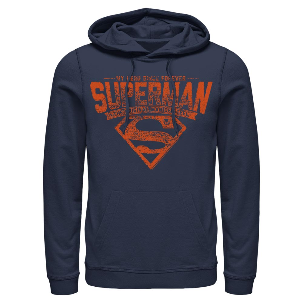 Navy DC FATHER'S DAY Superman Forever Hero Hoodie Image