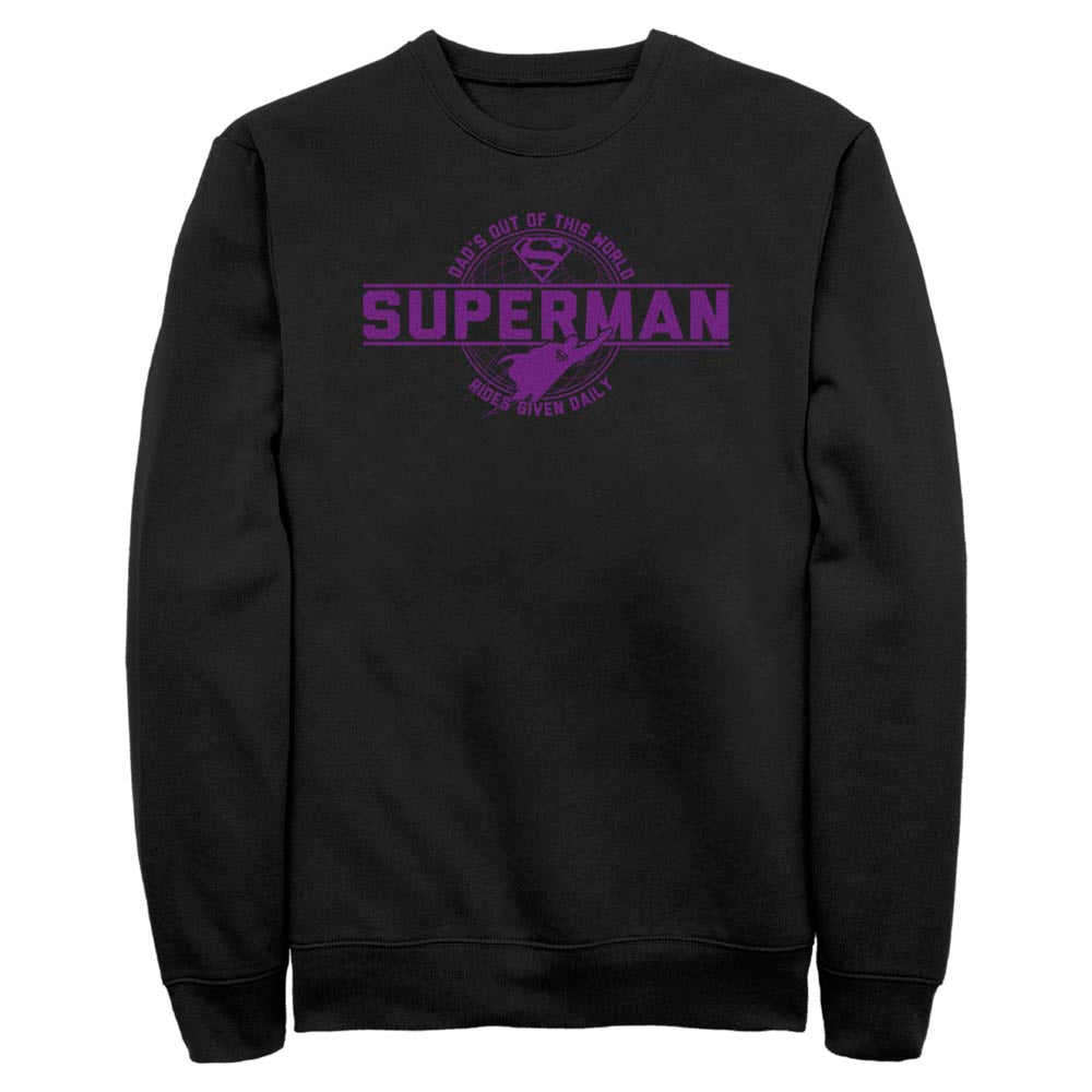 Black DC FATHER'S DAY Superman Out of This World Crew Sweatshirt Image