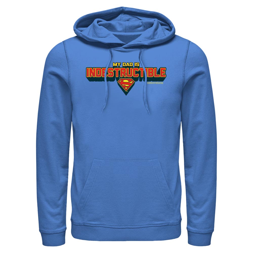 Royal Blue DC FATHER'S DAY Superman My Dad Is Indestructible Hoodie Image