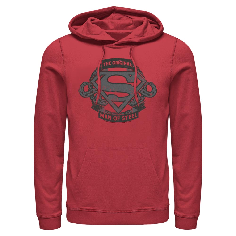 Red DC FATHER'S DAY Original Man of Steel Vintage Style Hoodie Image