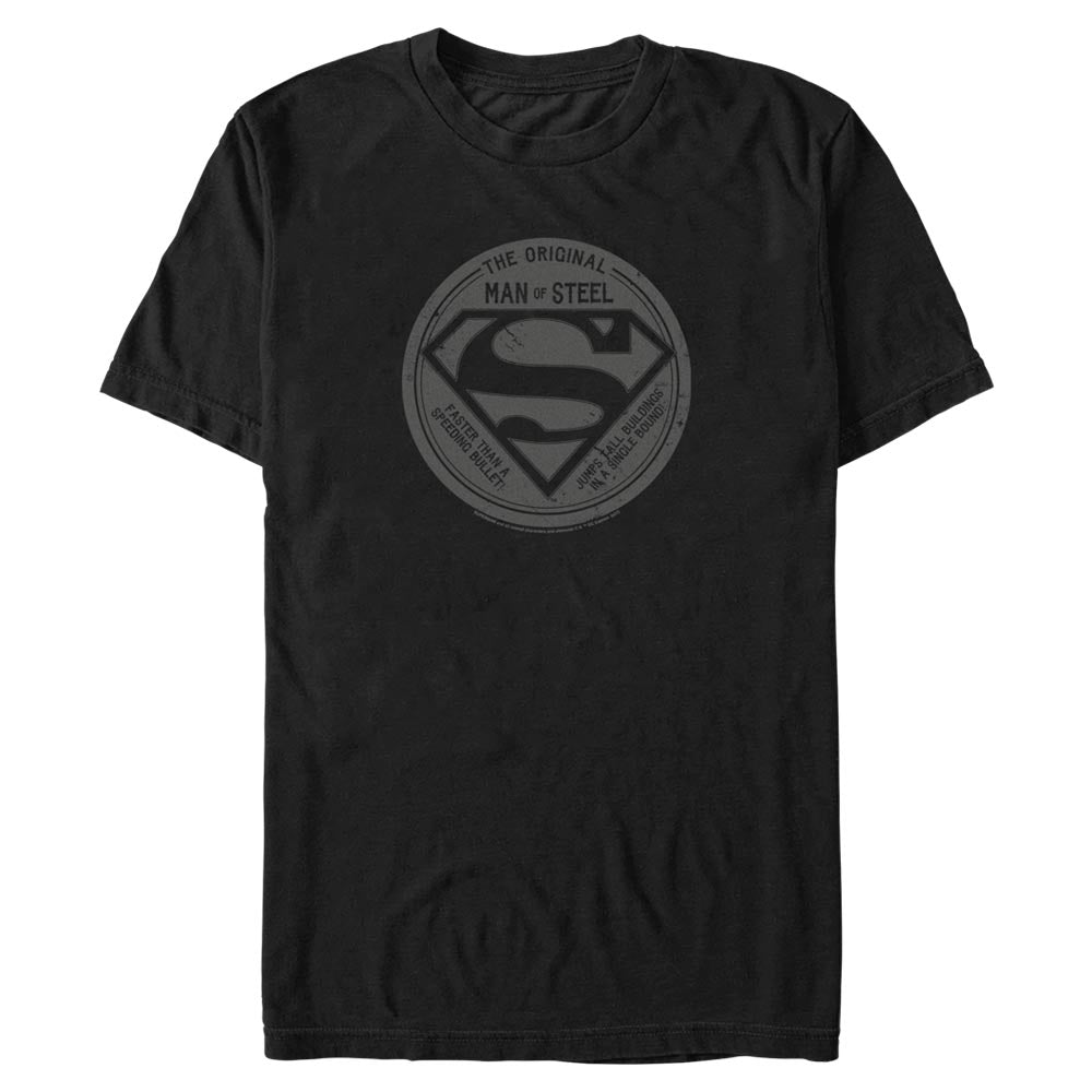 Black DC FATHER'S DAY Original Man of Steel Vintage Style T-Shirt Image