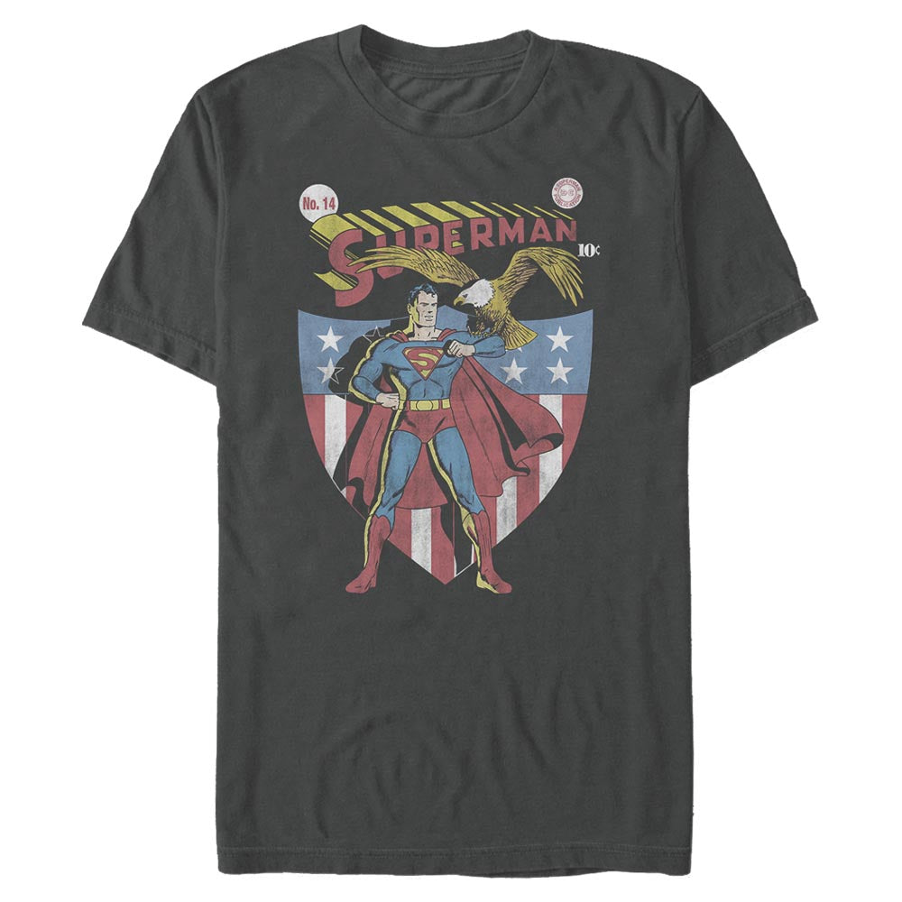 DC AMERICANA SUPERMAN with Eagle and Shield T-shirt