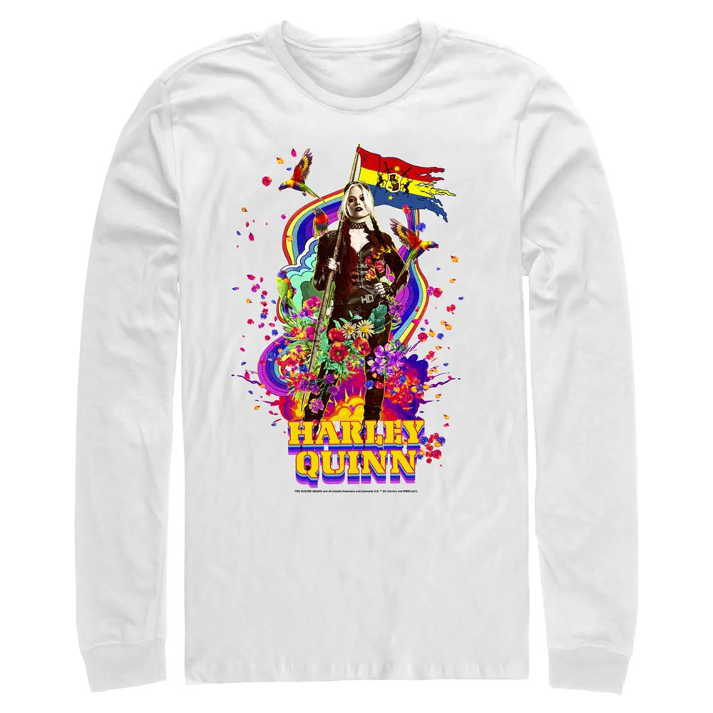 White HARLEY QUINN - The Suicide Squad Color Splash Long Sleeve Tee Image