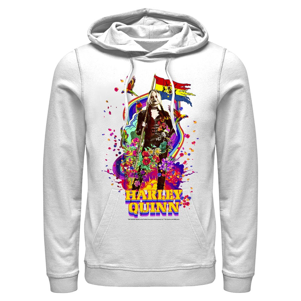 White HARLEY QUINN - The Suicide Squad Color Splash Hoodie Image