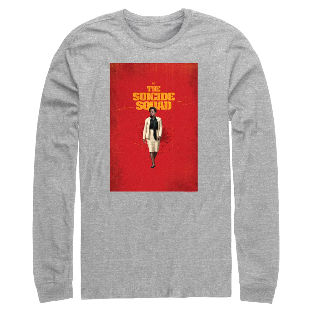 THE SUICIDE SQUAD Amanda Waller Poster Long Sleeve Tee