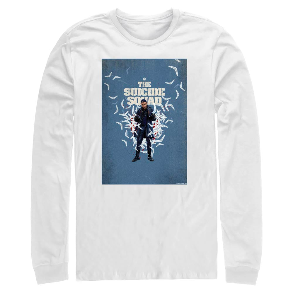 THE SUICIDE SQUAD Captain Boomerang Poster Long Sleeve Tee