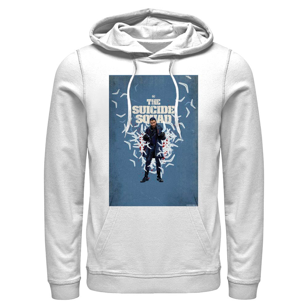 White THE SUICIDE SQUAD Captain Boomerang Poster Hoodie Image