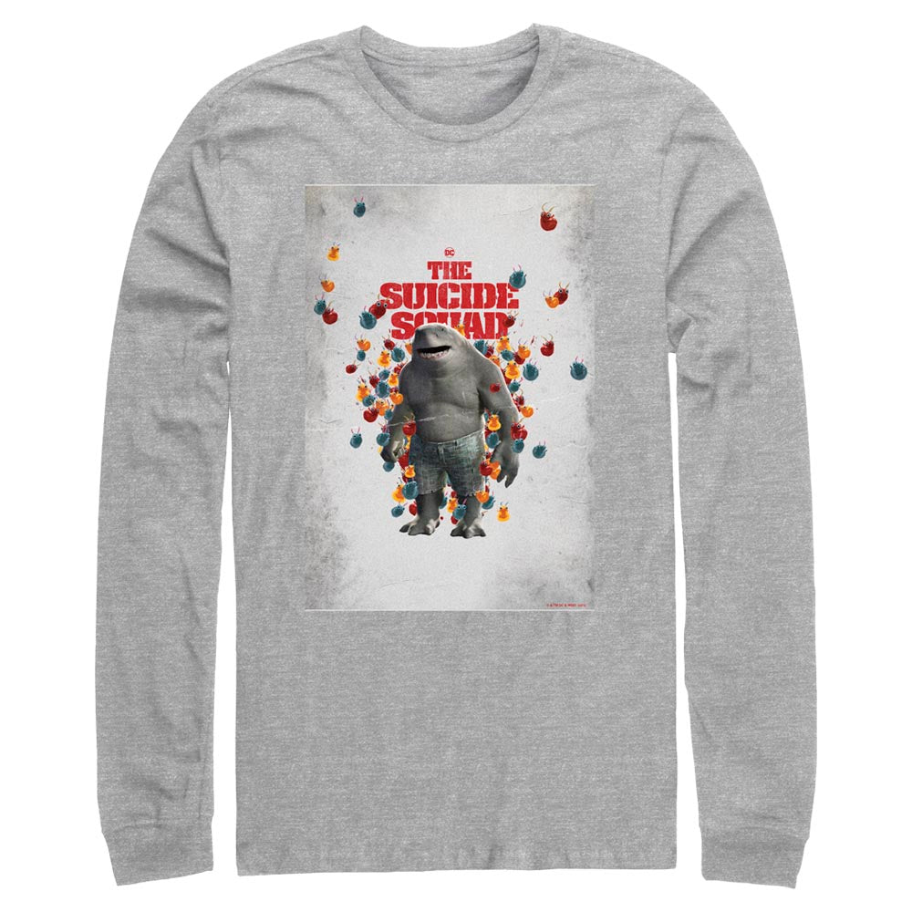 THE SUICIDE SQUAD King Shark Poster Long Sleeve Tee