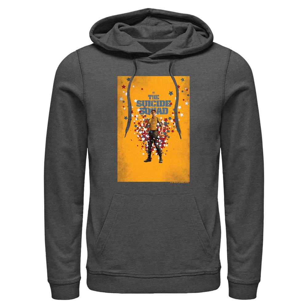 Charcoal Heather THE SUICIDE SQUAD Rick Flag Poster Hoodie Image